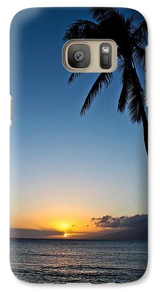 Galaxy Case featuring the photograph Romantic Maui Sunset by Joann Copeland-Paul