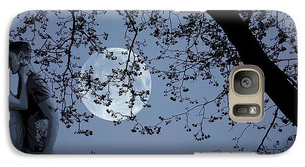 Galaxy Case featuring the photograph Romantic Moon 2  by Angel Jesus De la Fuente