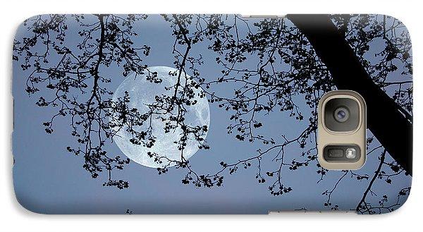 Galaxy Case featuring the photograph Romantic Moon  by Angel Jesus De la Fuente