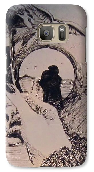 Galaxy Case featuring the drawing Romantic Notions by Cathy Long