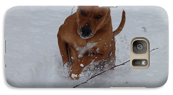Galaxy Case featuring the photograph Romp In The Snow by Mim White