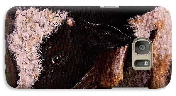 Galaxy Case featuring the painting Ron The Bull by Maria  Disley