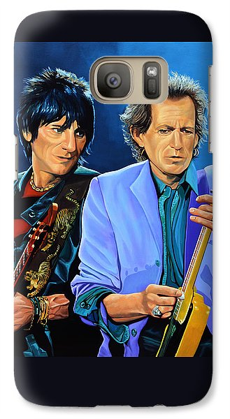 Ron Wood And Keith Richards Galaxy S7 Case by Paul Meijering