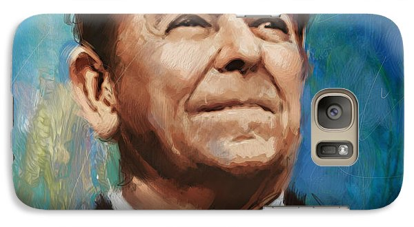 Ronald Reagan Portrait 6 Galaxy Case by Corporate Art Task Force