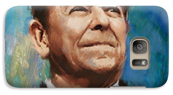Ronald Reagan Portrait 6 Galaxy Case by Corporate Art Task Force