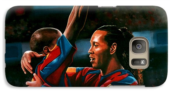 Ronaldinho And Eto'o Galaxy S7 Case by Paul Meijering