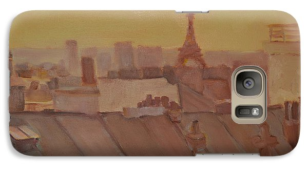 Galaxy Case featuring the painting Roofs Of Paris by Julie Todd-Cundiff