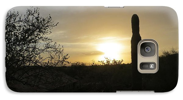 Galaxy Case featuring the photograph Rooftops At Desert Sunset by Jean Marie Maggi