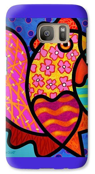 Rooster Dance Galaxy S7 Case by Steven Scott