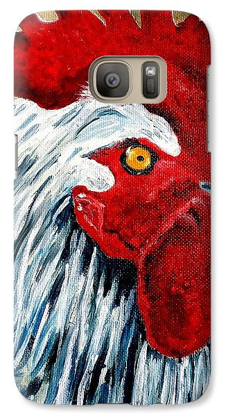Galaxy Case featuring the painting Rooster Doodle by Julie Brugh Riffey