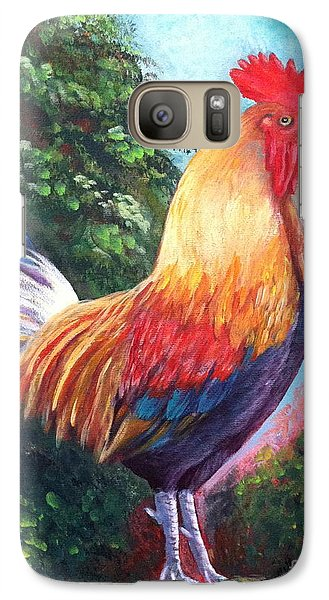 Galaxy Case featuring the painting Rooster For Elaine by Bozena Zajaczkowska