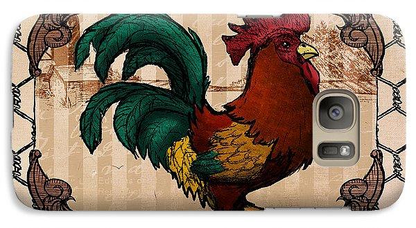 Folk Art Galaxy S7 Case - Rooster I by April Moen