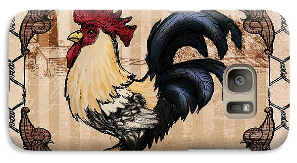 Folk Art Galaxy S7 Case - Rooster II by April Moen
