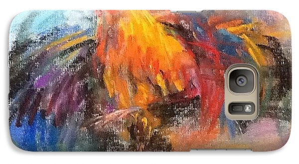Galaxy Case featuring the painting Rooster by Jieming Wang