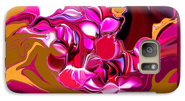 Galaxy Case featuring the digital art Rooster by Loxi Sibley