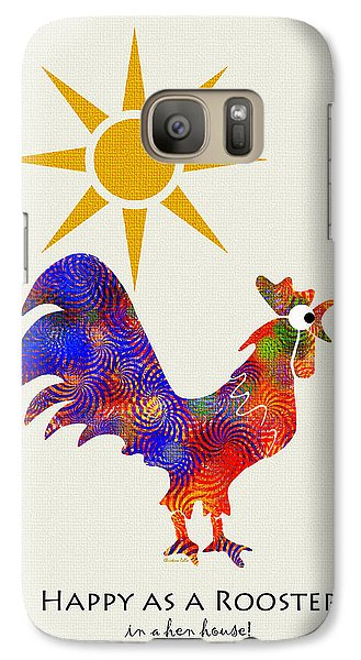 Rooster Pattern Art Galaxy S7 Case by Christina Rollo