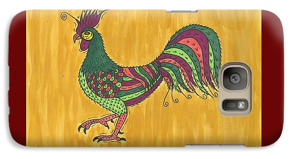 Galaxy Case featuring the painting Rooster Strut by Susie Weber