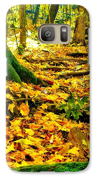 Galaxy Case featuring the photograph Root Steps by Zafer Gurel