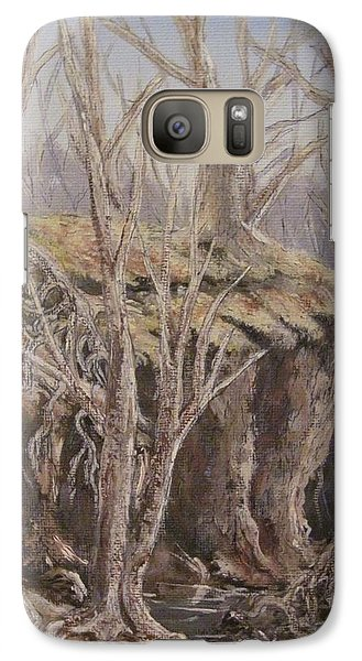 Galaxy Case featuring the painting Roots by Megan Walsh