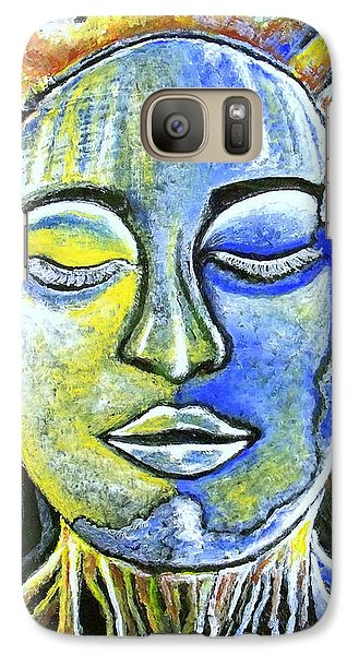 Galaxy Case featuring the painting Roots Run Deep by Julie  Hoyle