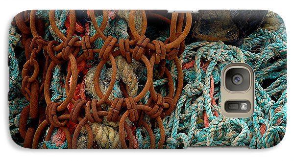 Galaxy Case featuring the photograph Ropes And Rusty Wires by Dorin Adrian Berbier
