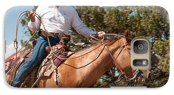 Galaxy Case featuring the photograph Ropin' by Sherry Davis
