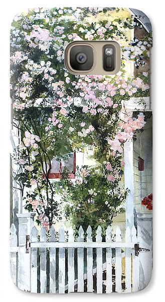 Galaxy Case featuring the painting Rose Arbor by Susan Crossman Buscho