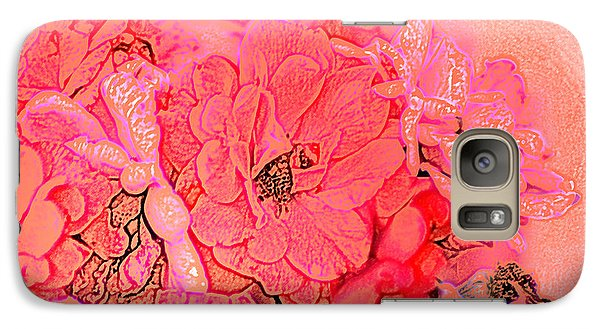 Galaxy Case featuring the digital art Rose Bouquet by Kathleen Stephens