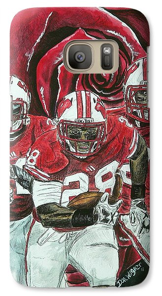 Galaxy Case featuring the painting Rose Bowl Badgers by Dan Wagner