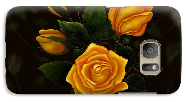 Galaxy Case featuring the painting Rose Buddies by Sena Wilson