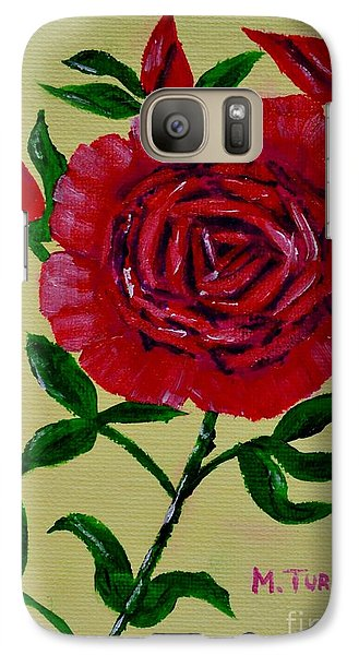 Galaxy Case featuring the painting Rose Buds by Melvin Turner