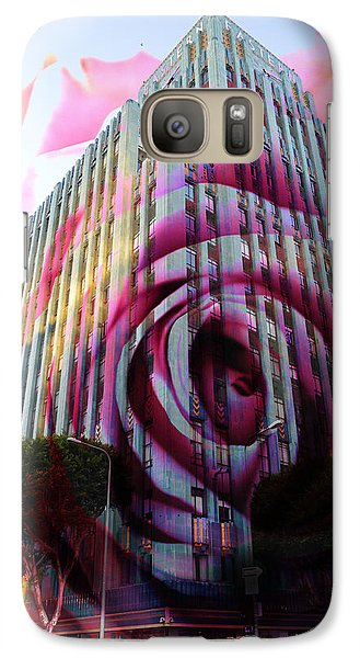 Galaxy Case featuring the photograph Rose Building by John Fish