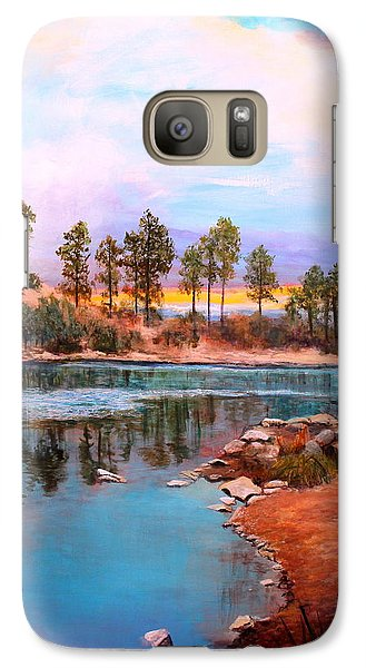 Galaxy Case featuring the painting Rose Canyon Lake 2 by M Diane Bonaparte