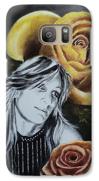Galaxy Case featuring the drawing Rose by Carla Carson