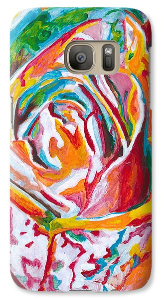 Galaxy Case featuring the painting Rose by Denise Deiloh