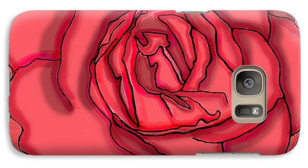 Galaxy Case featuring the drawing Rose Drawing by Christine Perry