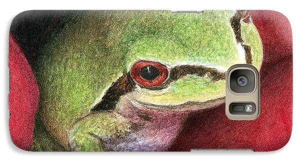 Galaxy Case featuring the painting Rose Frog by Pat Erickson