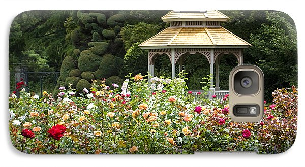 Galaxy Case featuring the photograph Rose Garden Gazebo by Sonya Lang