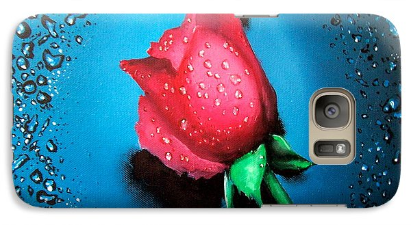 Galaxy Case featuring the painting Rose by Geni Gorani