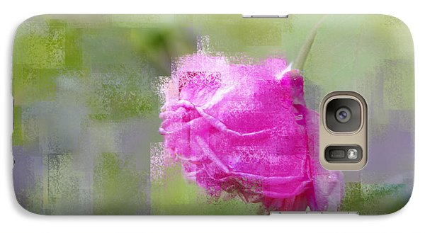 Galaxy Case featuring the photograph Rose In Pink by Linde Townsend