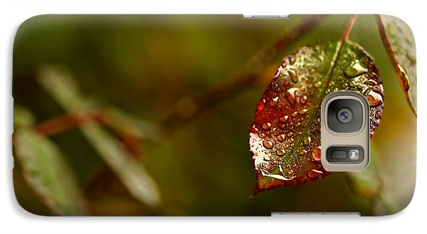 Galaxy Case featuring the photograph Rose Leaf by Liz  Alderdice