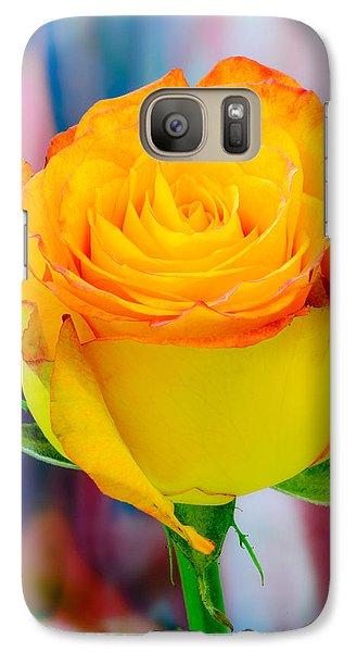 Yellow Rose Macro Galaxy S7 Case