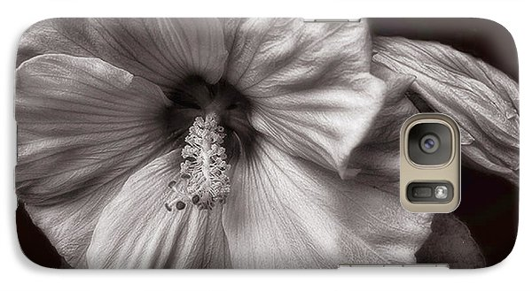 Galaxy Case featuring the photograph Rose Mallow Bloom by Louise Kumpf