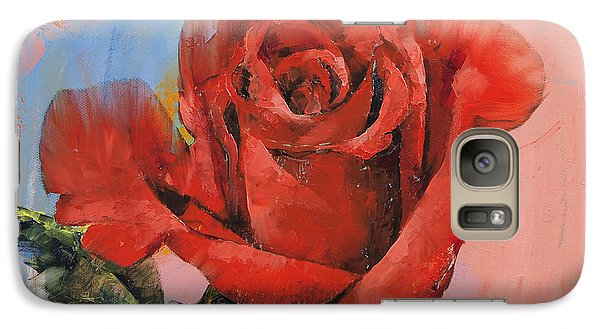 Rose Painting Galaxy S7 Case by Michael Creese