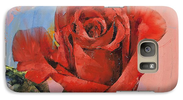 Rose Galaxy S7 Case - Rose Painting by Michael Creese