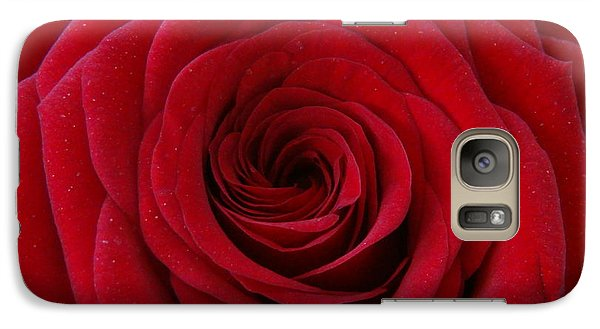 Galaxy Case featuring the photograph Rose Red by Shawn Marlow