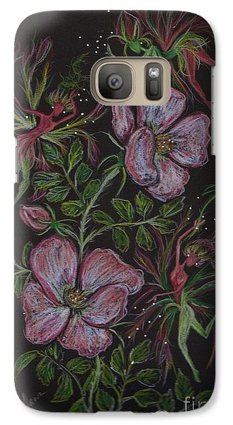 Galaxy Case featuring the drawing Rose Run Amok by Dawn Fairies