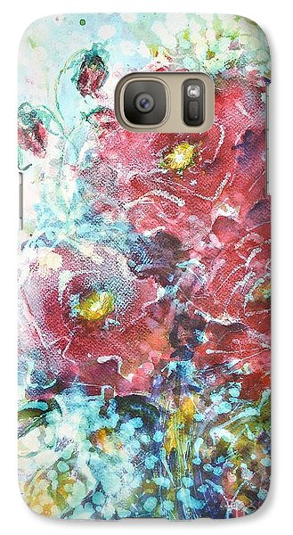 Galaxy Case featuring the painting Rose Summer Delight by Kathleen Pio