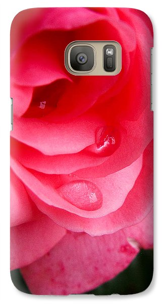Galaxy Case featuring the photograph Rose Teardrop by Dawn Romine