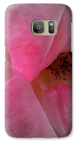 Galaxy Case featuring the photograph Rose Voluptuous by Jean OKeeffe Macro Abundance Art
